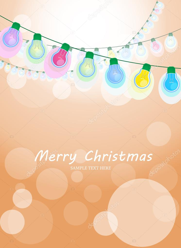 Holiday lights christmas card vector image stok vektr holiday lights christmas card vector image digiart vektr m4hsunfo