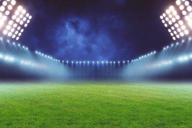 emty illuminated football ground