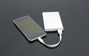External power  with  smartphone