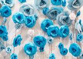 Fotografie Mnoho umělých decoratory růže