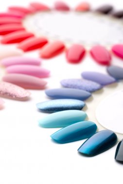 Many colorful nail varnishes