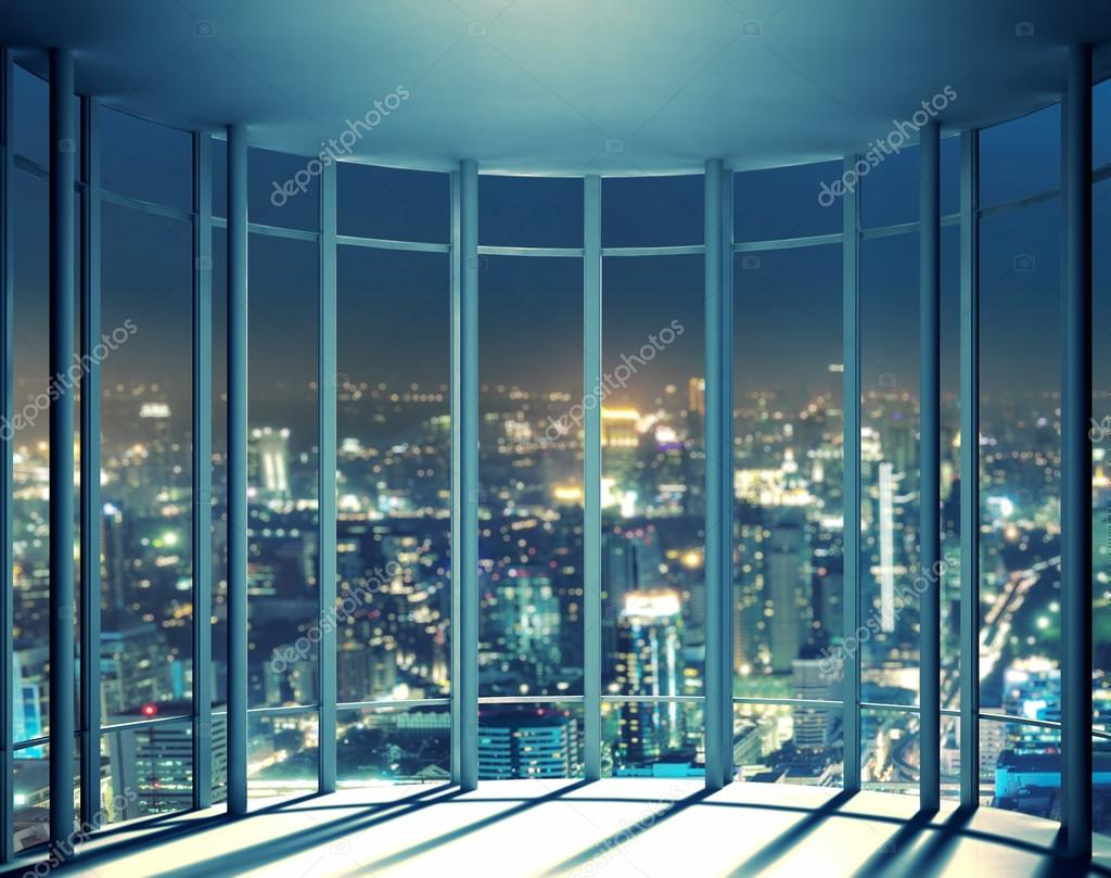 Night view from high rise window
