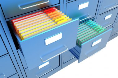 Folders in the file cabinet
