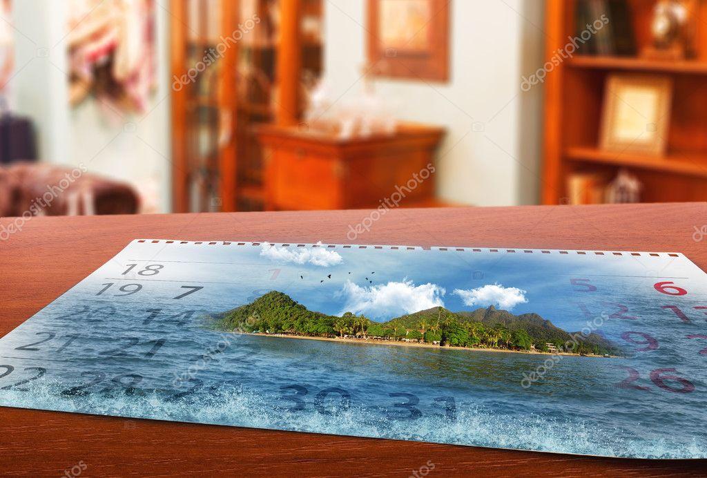 Calendar  with landscape