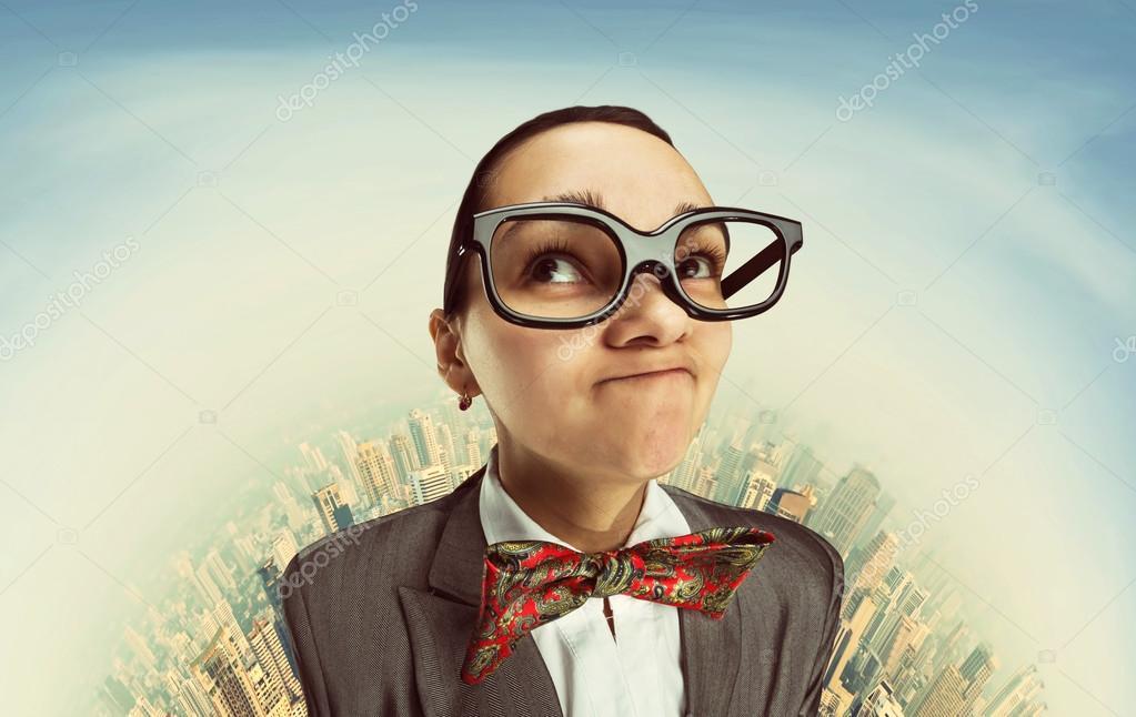 35321fd2d0 Αστεία όνειρα κορίτσι nerd — Φωτογραφία Αρχείου © Nomadsoul1  70784699