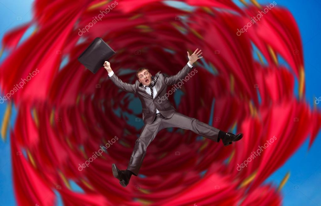 Businessman Falls Into Abyss Stock Photo Nomadsoul1 70784843