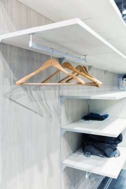 Empty hangers for clothes