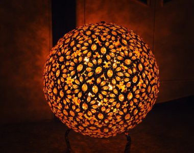 Decorative lamp with abstract design