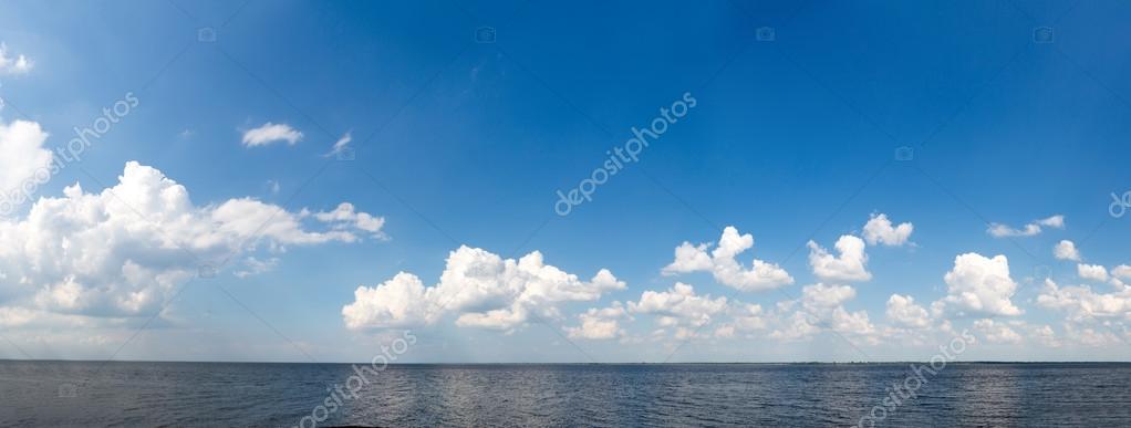 smooth sea and blue sky