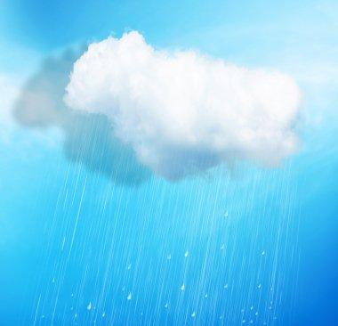 White cloud with rain