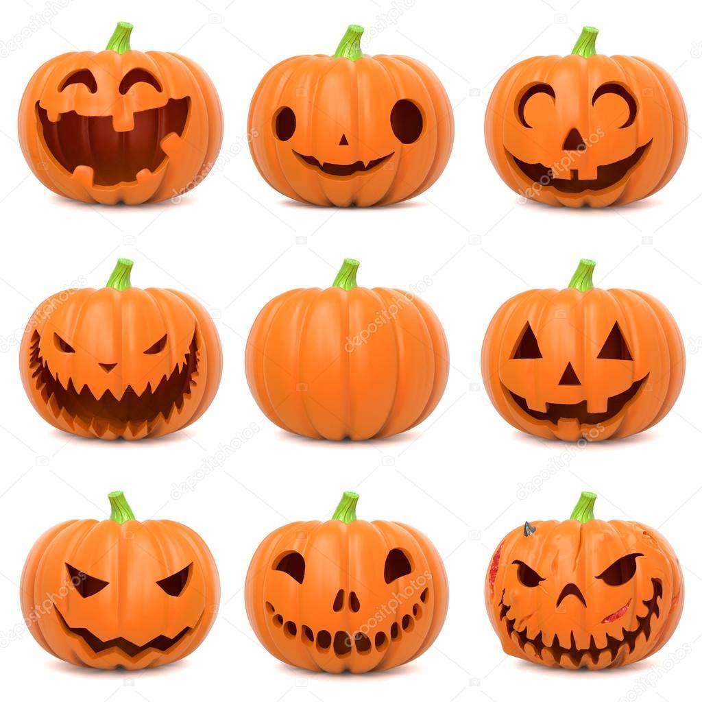 Funny Halloween Pumpkins U2014 Stock Photo