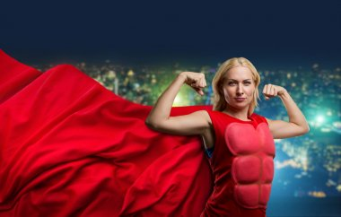 Strong woman superhero