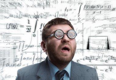 Professor in glasses thinking