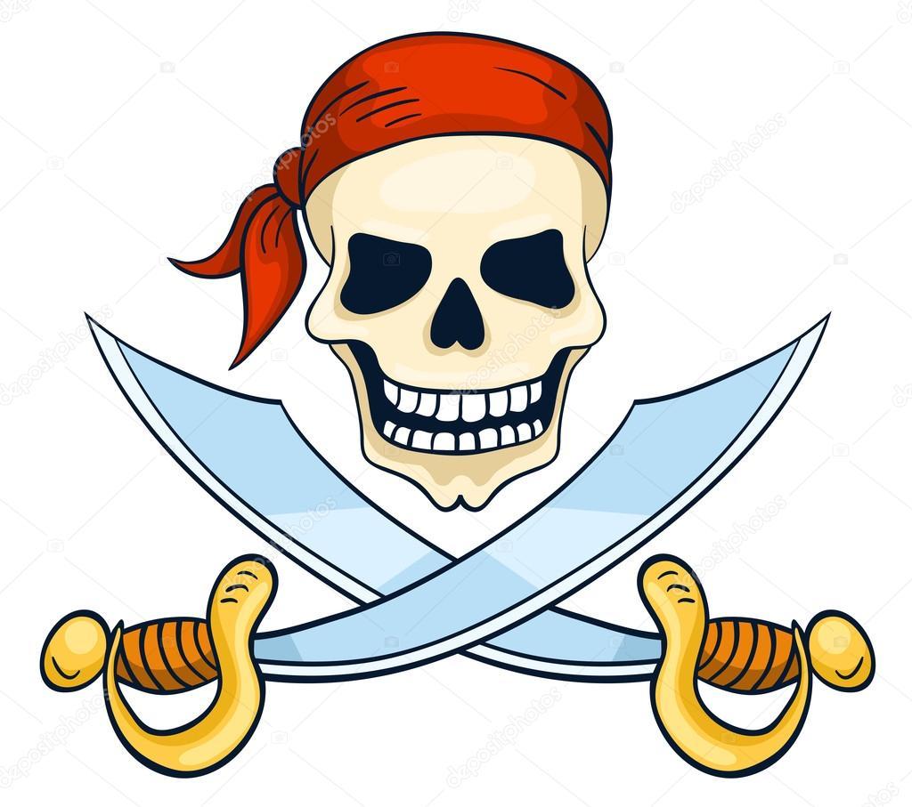 Calaveras Animadas De Cuerpo Completo Calavera De Pirata Dibujado