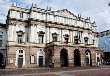 Piazza La Scala and La Scala theatre, in Milan.