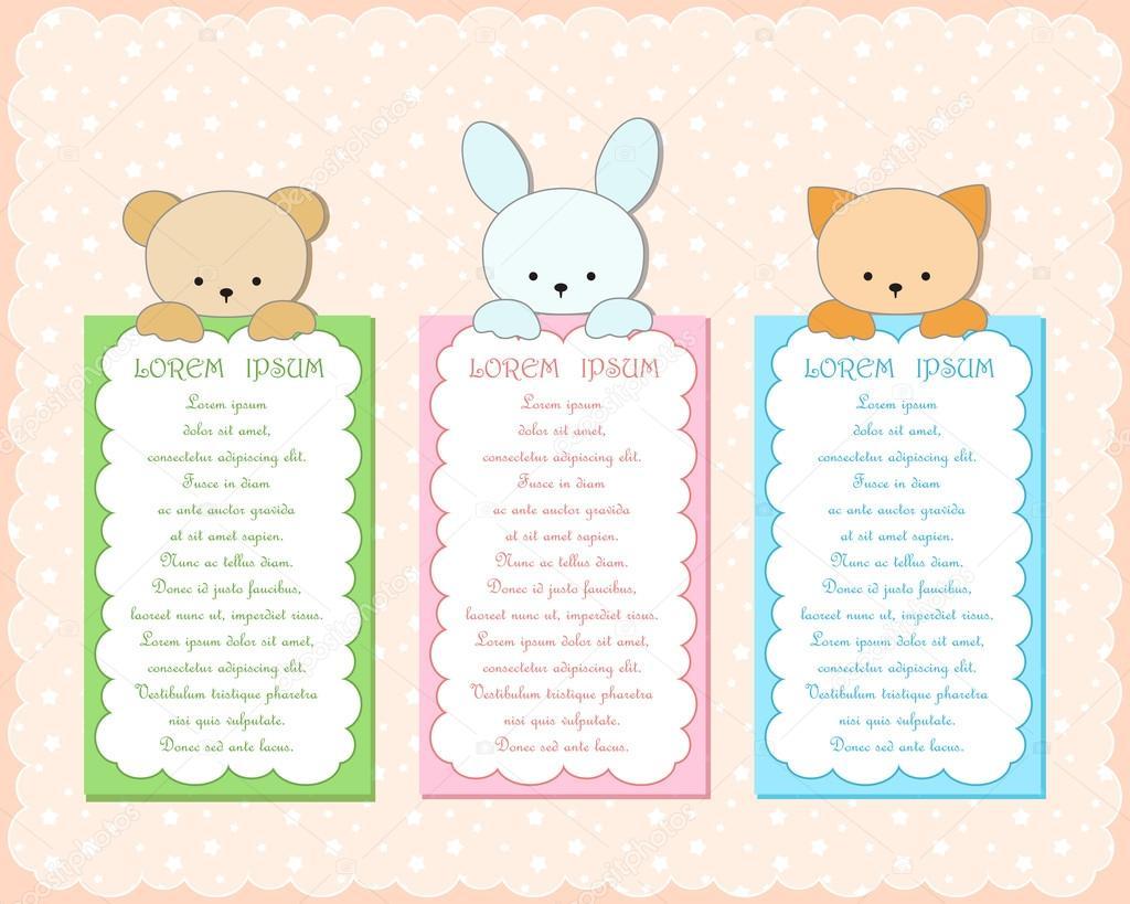Baby Animal Banner. 30
