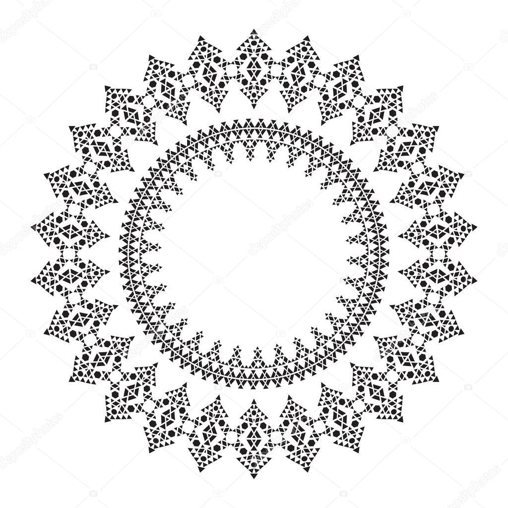 Marco de círculo geométrico para el diseño de tribal — Archivo ...