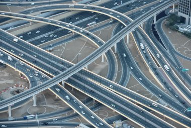 Highways in downtown Dubai