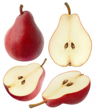 Isolated red pears