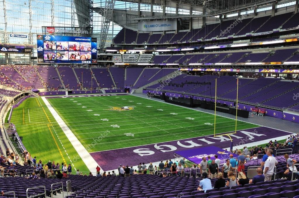 Interieur van Minnesota Vikings ons Bank stadion in Minneapolis ...