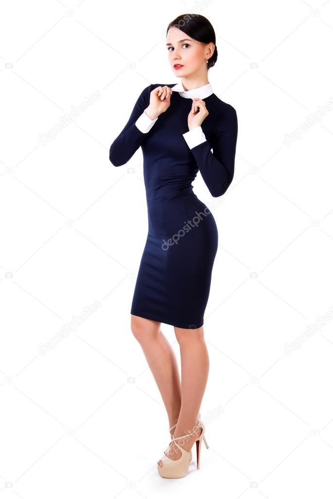 Imagenes de vestidos azul marino con blanco