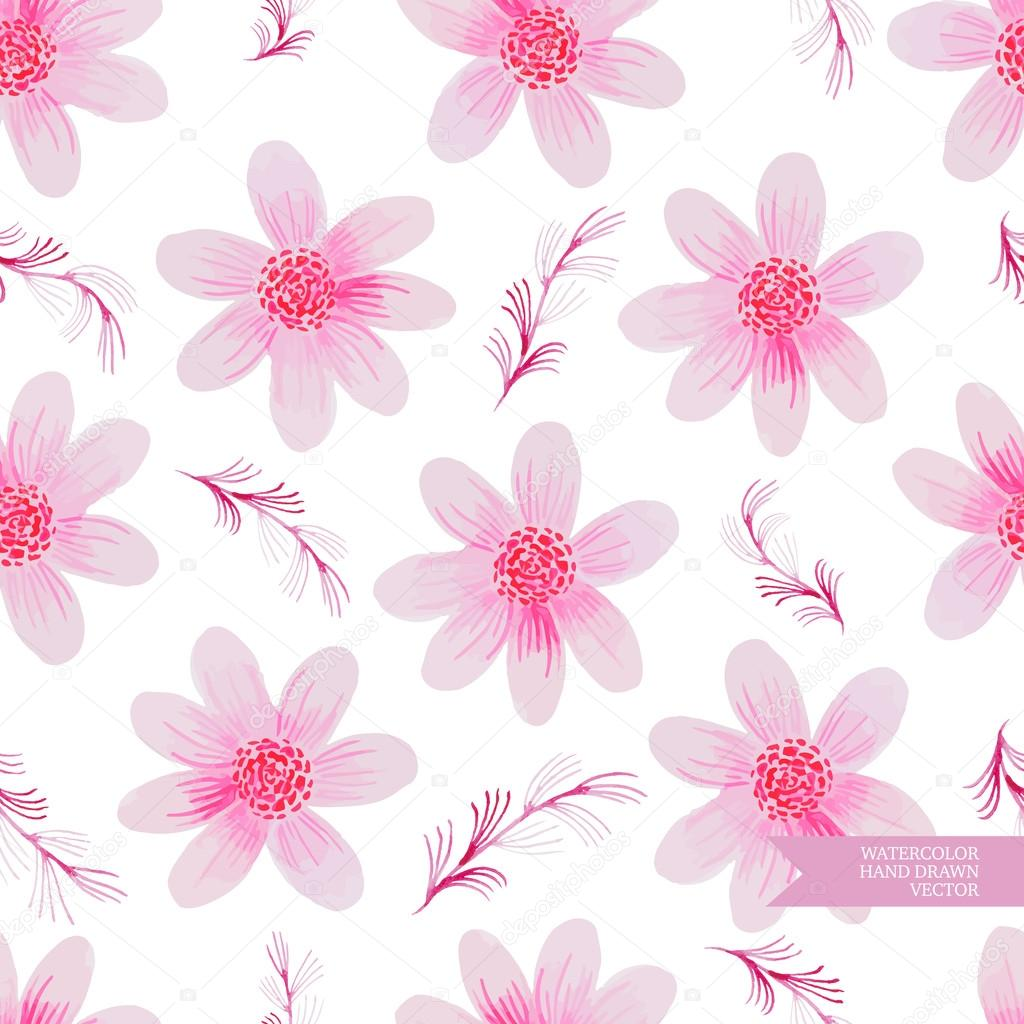 Watercolor hand drawn and painted seamless flower pattern vintage watercolor hand drawn and painted seamless flower pattern vintage flower design for greeting cards an m4hsunfo