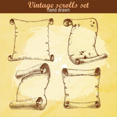 Old scrolls sketch style set