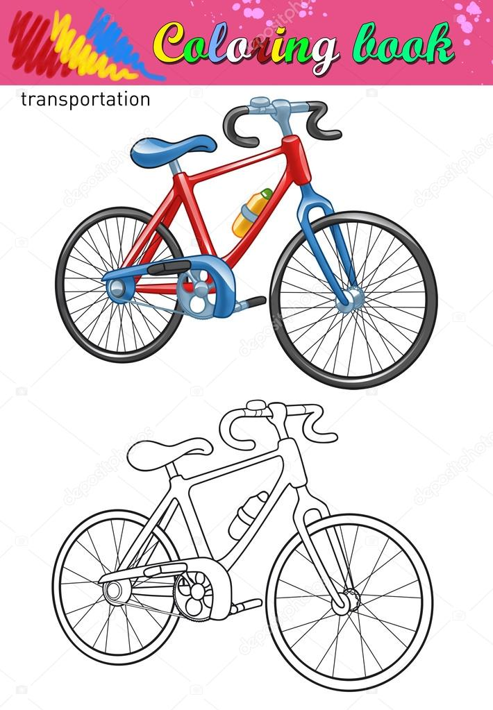 coloring of bicycle coloring book for kids color ant outline bike drawing isolated on white background photo by pleshko74 - Bicycle Coloring Book