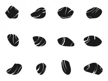 Black stones icons