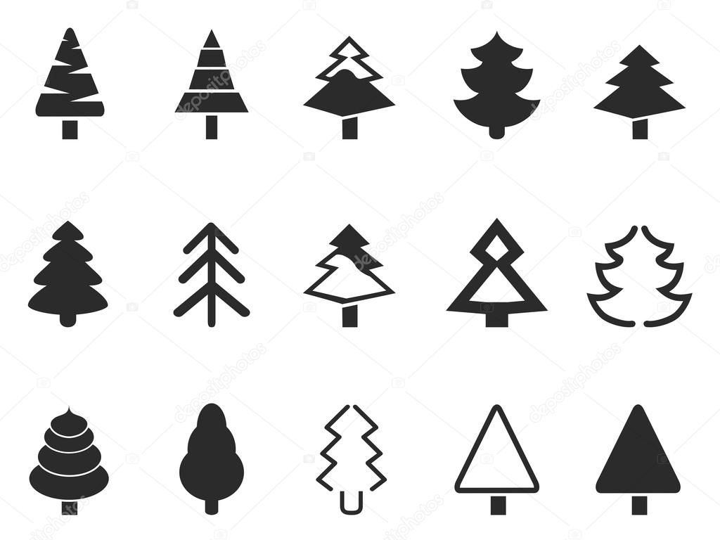 Simple Pine Tree Stock Vector Huhulin 56060785