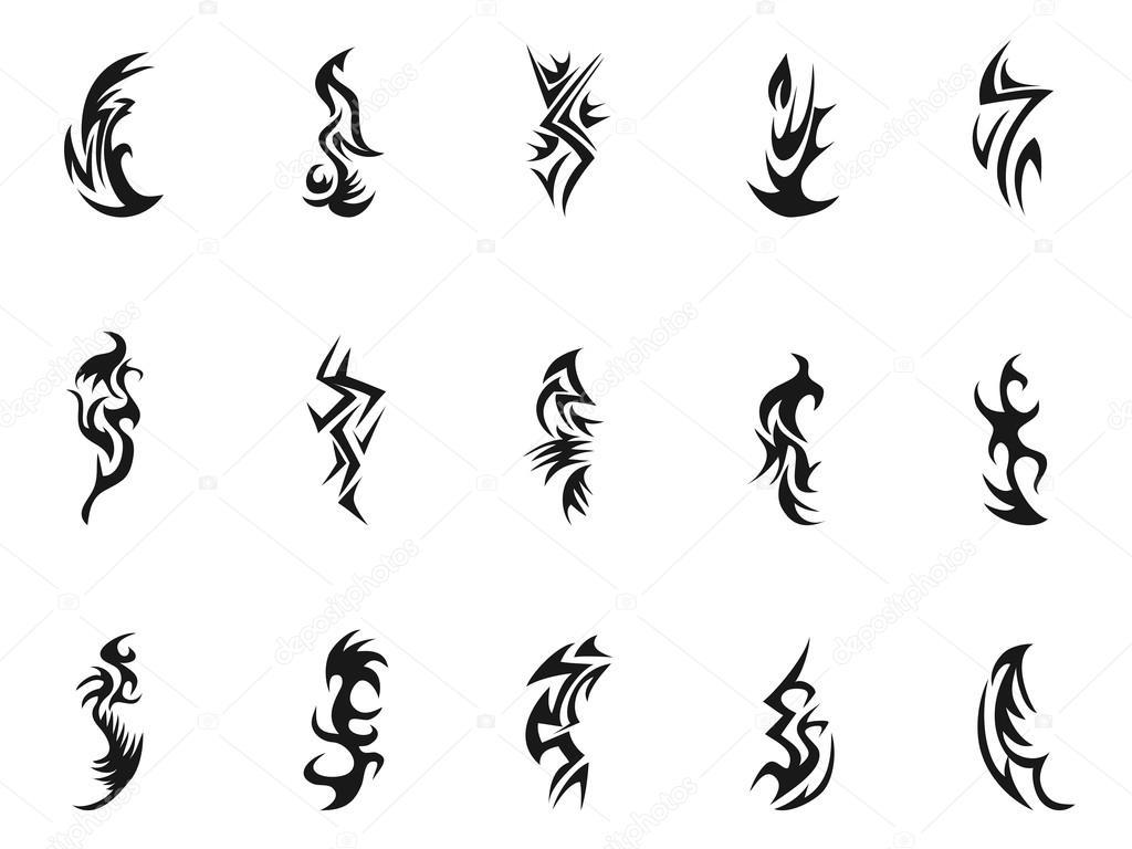 Simbolos Tribales Tatuajes Simbolo De Tatuaje Tribales Vector De - Simbolo-tatuaje