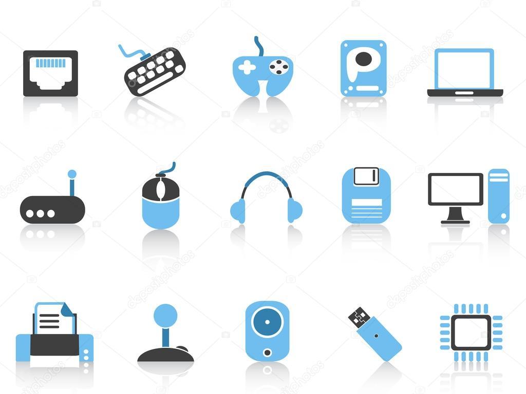 Famous Icônes de l'ordinateur et ses périphériques — Image vectorielle  CI89