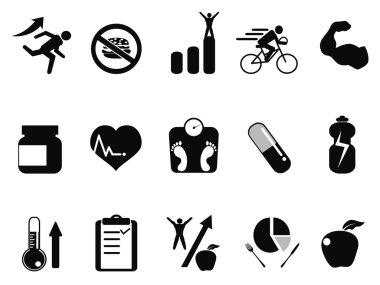 Sport performance icons set
