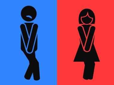 Wc restroom symbols