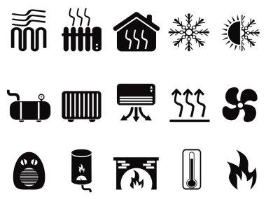 black heating icons