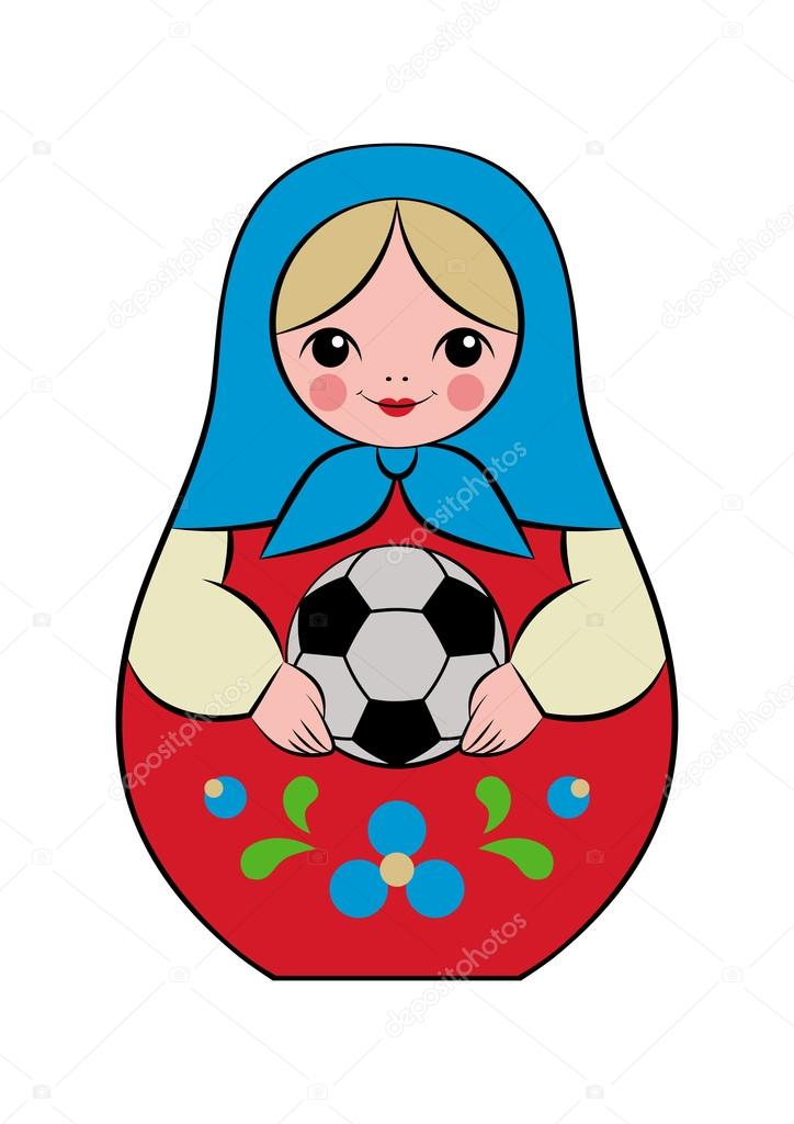 football matryoshka doll