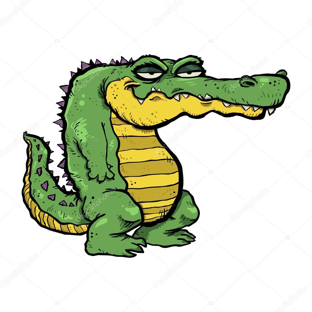卡通鳄鱼矢量 — 图库矢量图像© briangoff #100142838