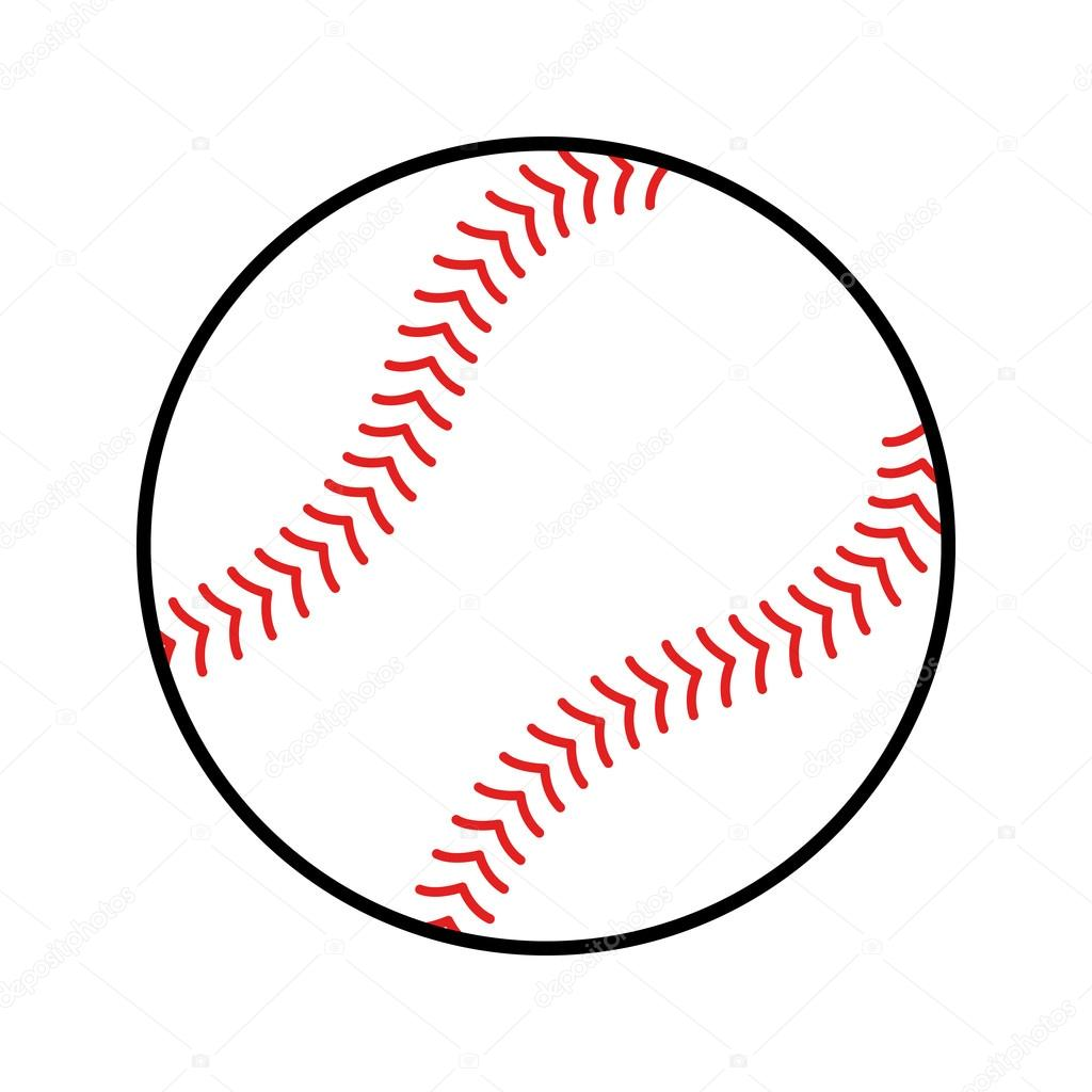 baseball vector icon stock vector briangoff 100155290 rh depositphotos com baseball vector clipart baseball vector free download