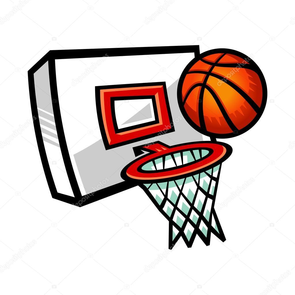Basketball hoop vector icon illustration stock vector - Canasta de baloncesto ...