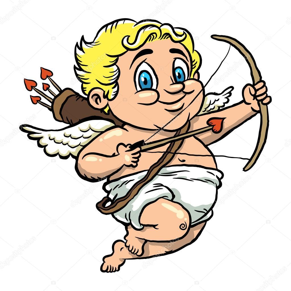 Vecteur de dessin anim saint valentin cupidon image - Dessin de cupidon ...