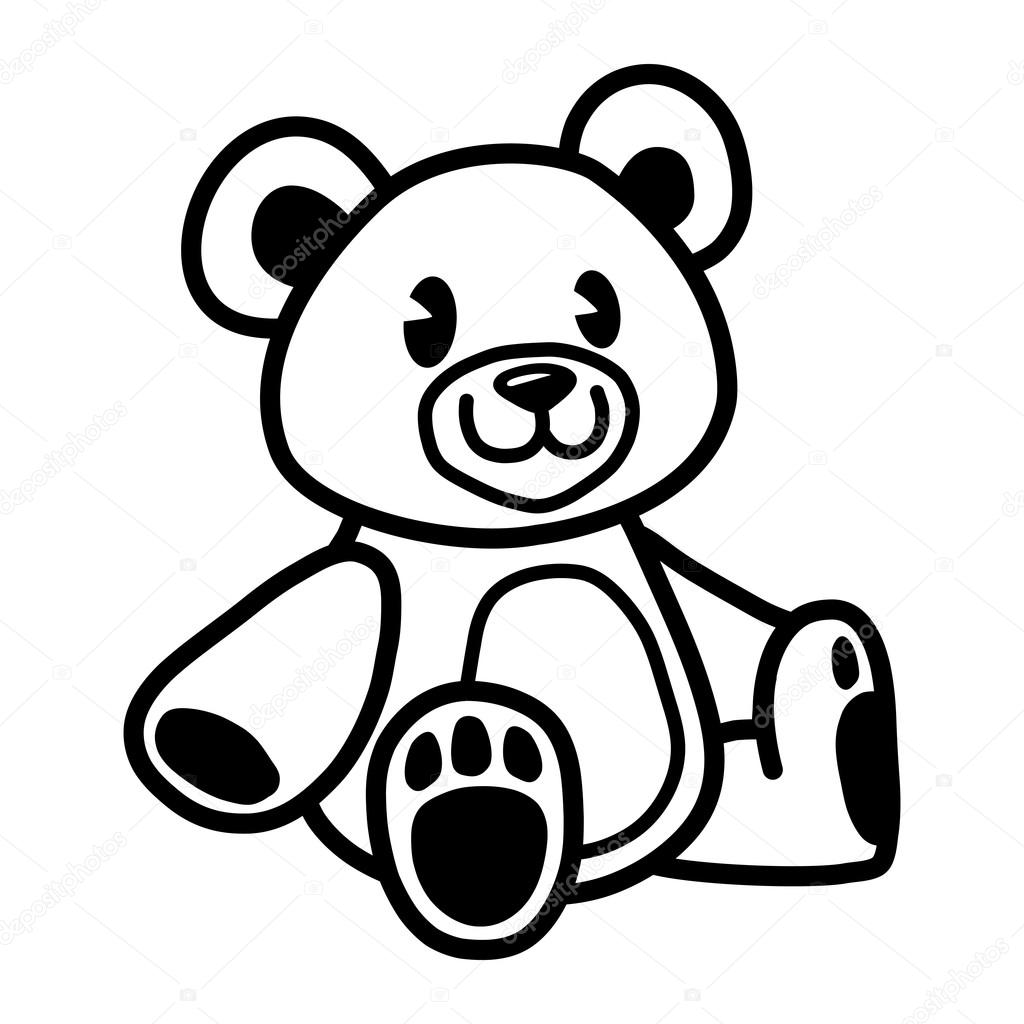teddy bear vector stock vector briangoff 100595960 rh depositphotos com teddy bear vector free teddy bear vector silhouette