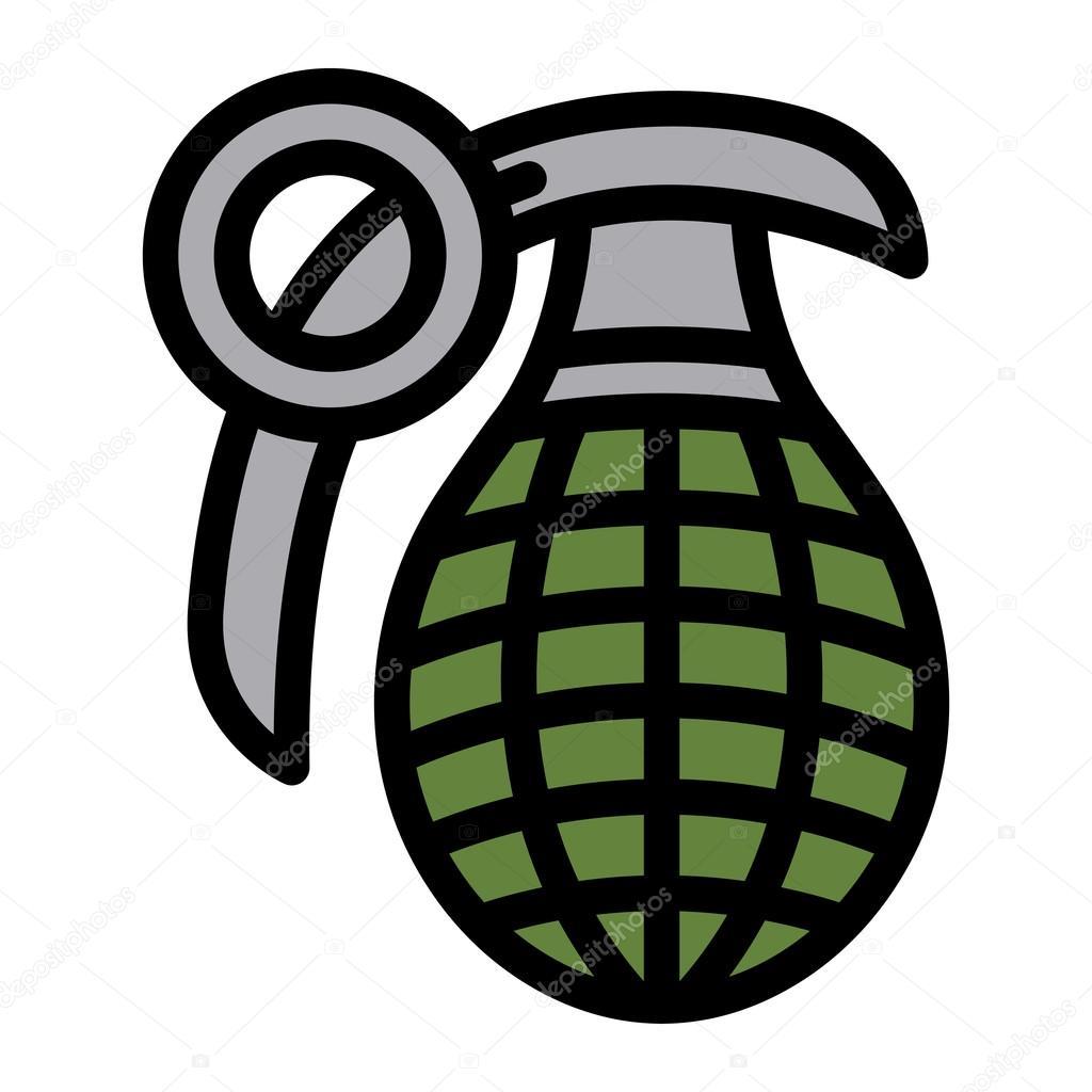hand grenade vector illustration stock vector briangoff 100612986 rh depositphotos com Hand Grenade Drawing Rose Vector