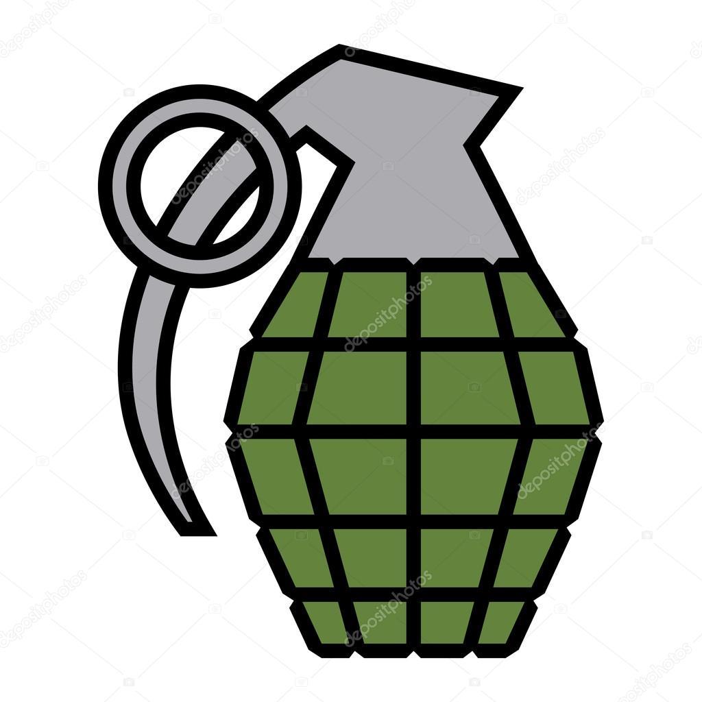 hand grenade vector illustration stock vector briangoff 100613058 rh depositphotos com Hand Grenade Drawing Grenade Drawing