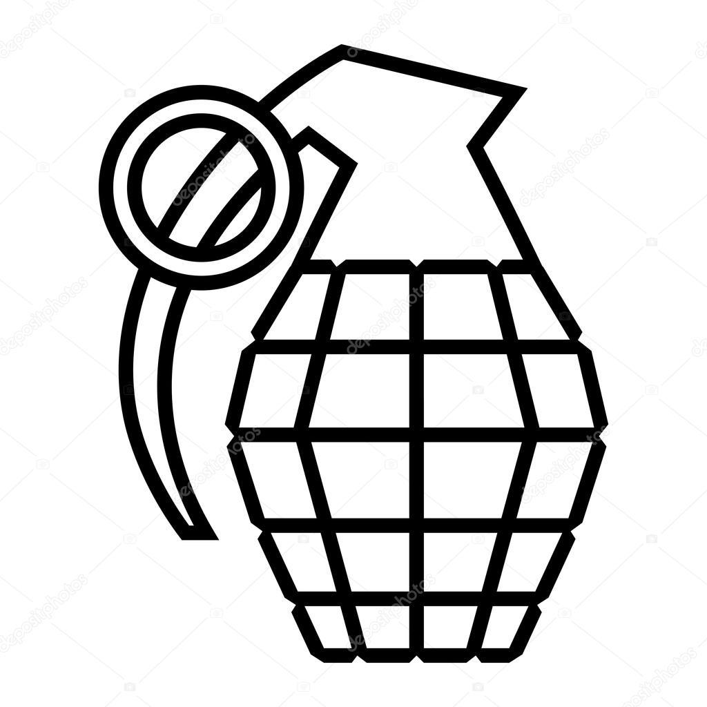 hand grenade vector illustration stock vector briangoff 100613138 rh depositphotos com Hand Print Vector Hand Gestures