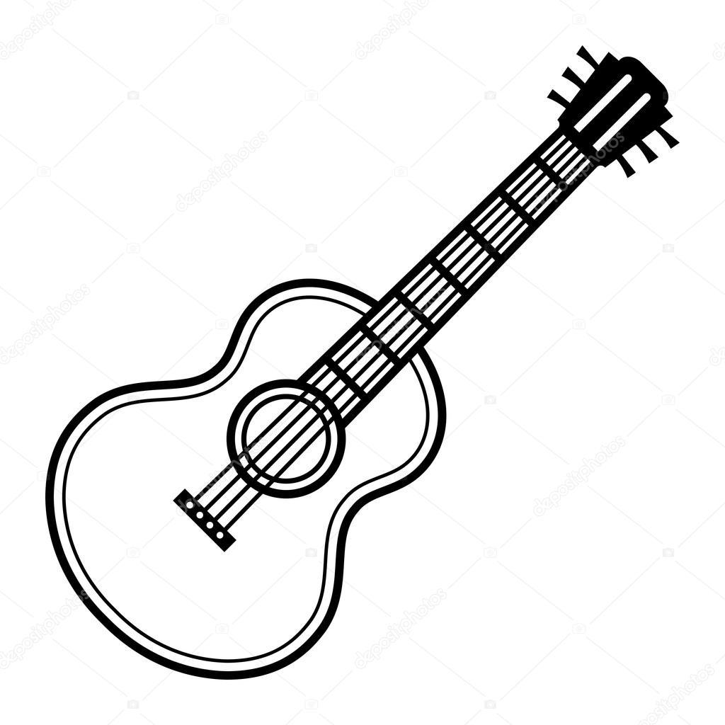 ikone des gitarrenvektors  vektorgrafik lizenzfreie