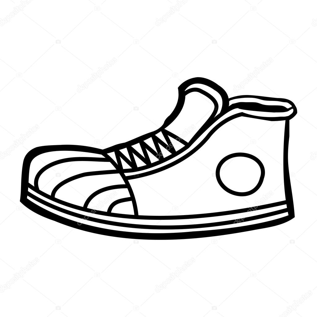 how to draw shoes facing forward