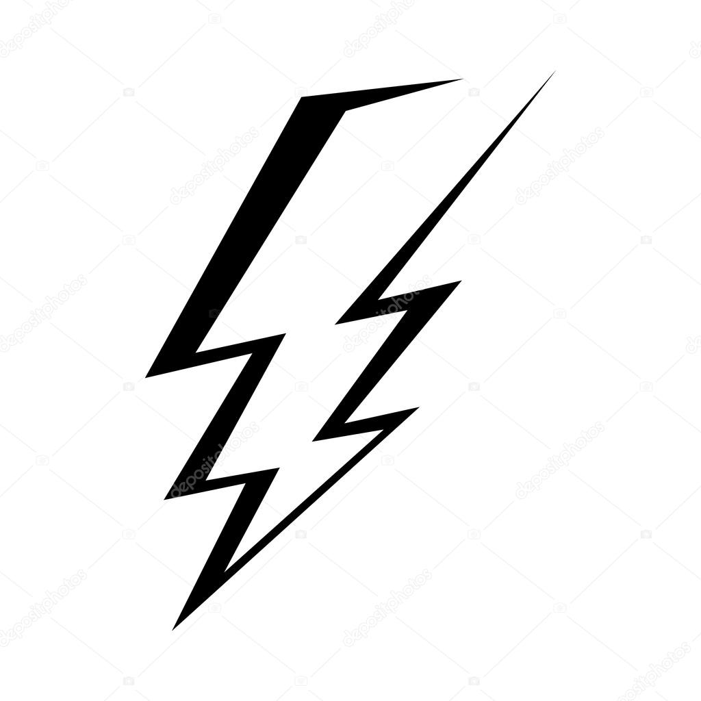 Lightning bolt vector icon — Stock Vector © briangoff #100813470 for Vector Lighting Bolt  545xkb
