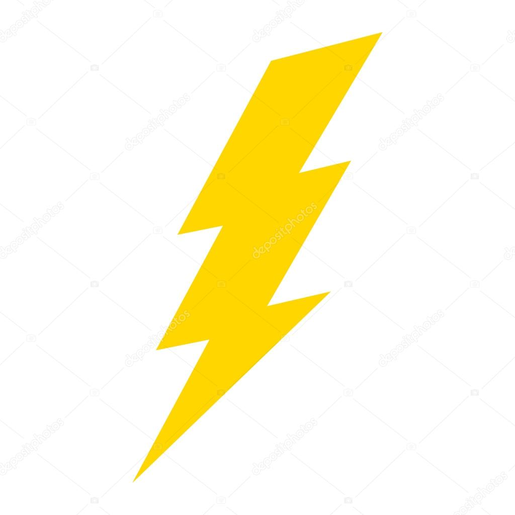 Lightning bolt vector icon — Stock Vector © briangoff #100813528 for Vector Lighting Bolt  lp00lyp