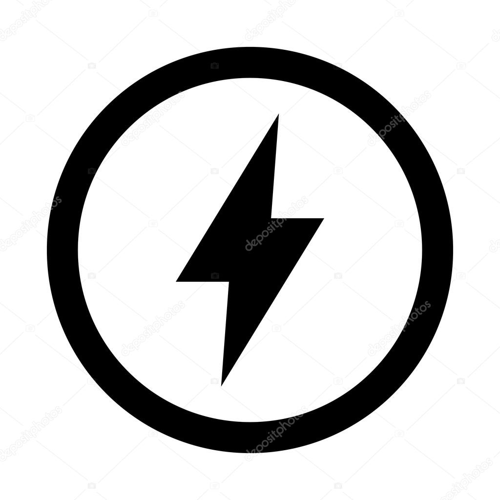 Lightning bolt vector icon — Stock Vector © briangoff #100813532 for Lightning Logo In Circle  157uhy