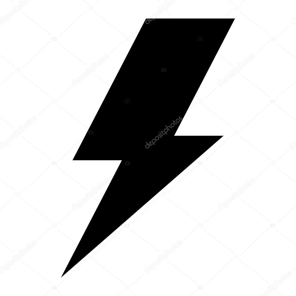 lightning bolt vector icon stock vector briangoff 100813540 rh depositphotos com lightning bolt vector art free lightning bolt vector image